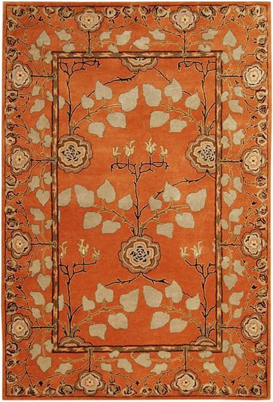 Patrician Rug: a New Zealand wool blend construction make this orange rug stand out and soft to the touch. #HDCrugs HomeDecorators.com