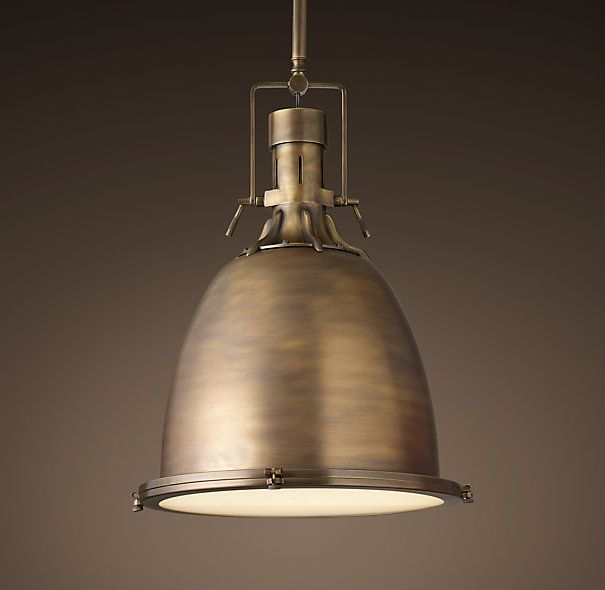 Benson pendant antique brass