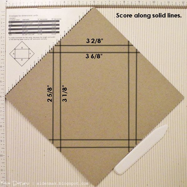 Envelope Tutorial with photographs of every step, to make envelopes to mail cards that have lots of layers and embellishments.