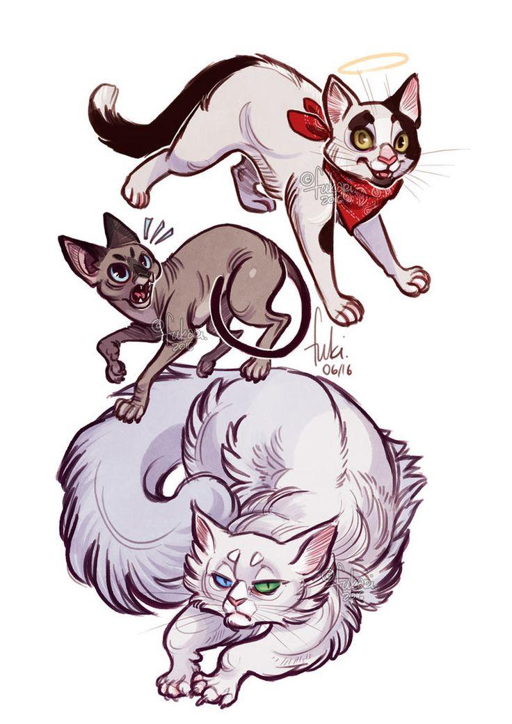 cats by Fukari.deviantart.com on @DeviantArt
