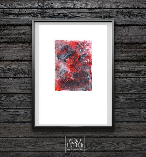 Minimalist Modern Abstract Acrylic Painting by vfitzartist on Etsy A4 Art Print