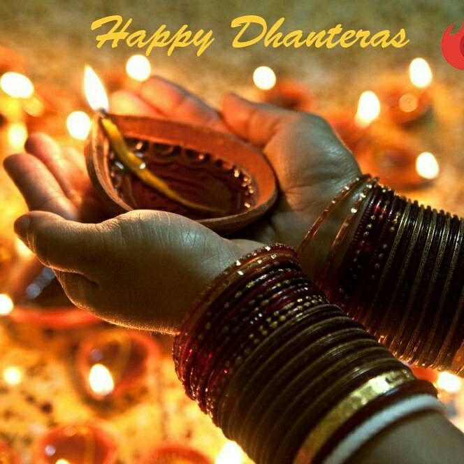 On Dhanteras Festival, May Divine blessings of Goddess Lakshmi, Bestow on you bountiful fortune. Happy Dhanteras