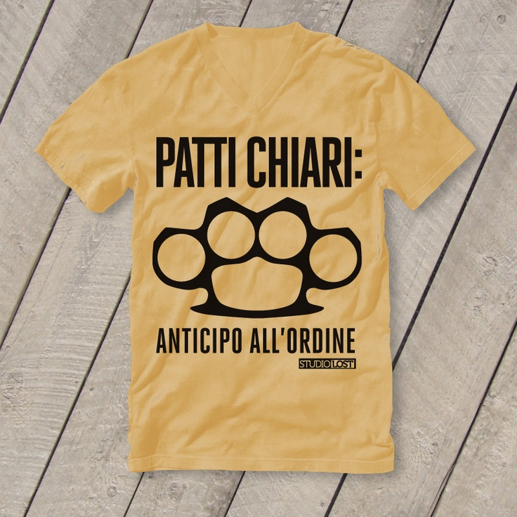 T-Shirt Graphic Design: Patti chiari!
