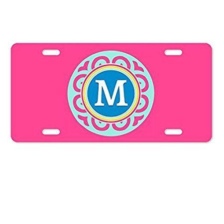 AnnaStoree Personalized Monogrammed Aluminum Metal License Plate Auto Tag