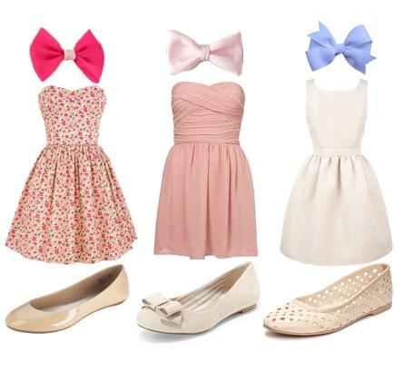 Ariana's sommar klänningar med en rosett till håret och ett par gulliga skor! <3