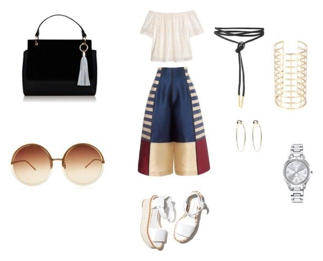 """""""get ready"""" by itstyrell on Polyvore featuring H&M, Paloma Barceló, Bebe, Mestige and Linda Farrow"""