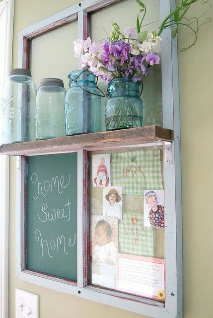 Window pane idea  Del I thought this would be so cute with the window you just got.