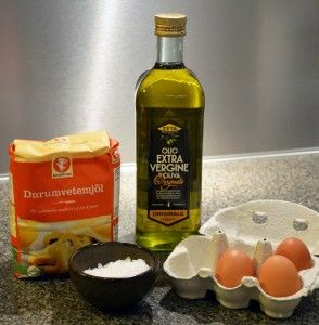 De simple ingredienser til hjemmelavet pasta