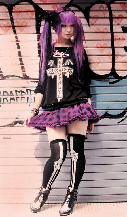 cute japanese street style, rokku style