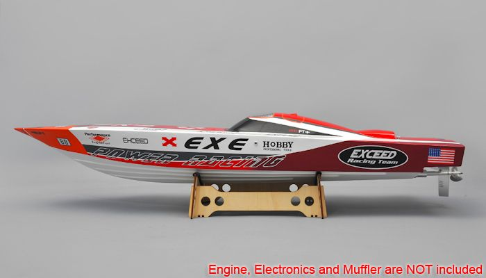 exceed rc boats | New Exceed Racing Fiberglass Gas Powered RC 1300mm Speed Boat Kit ...
