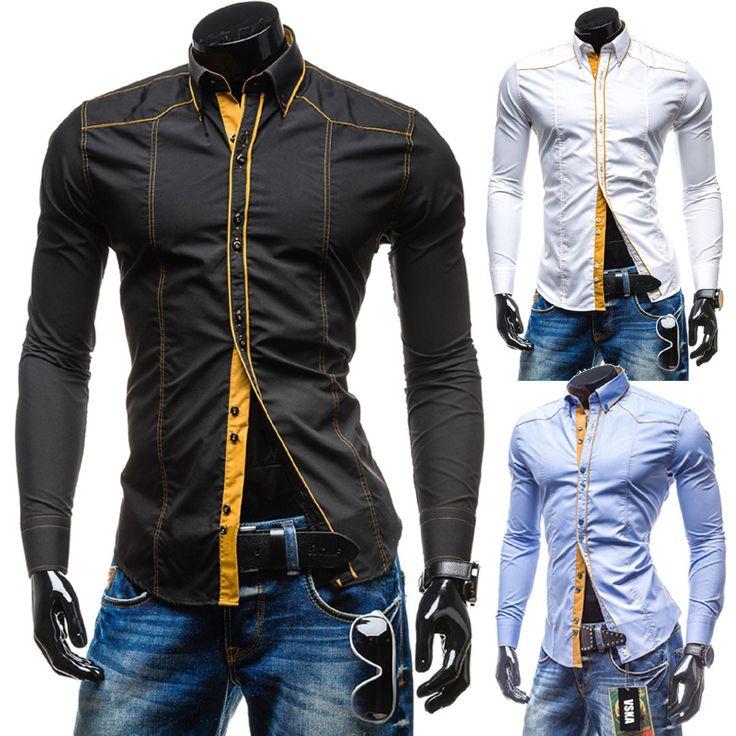 Men shirt long sleeve casual slim fit mens dress shirts solid color camisa social masculina camisas hombre chemise 89085051