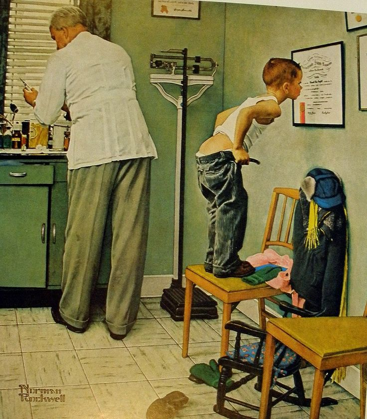 Doctor's Office - Norman Rockwell, 1958