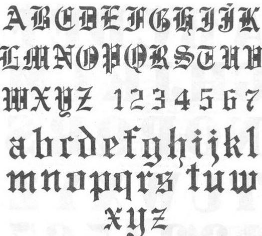 El abecedario de letras góticas - Tendenzias.com