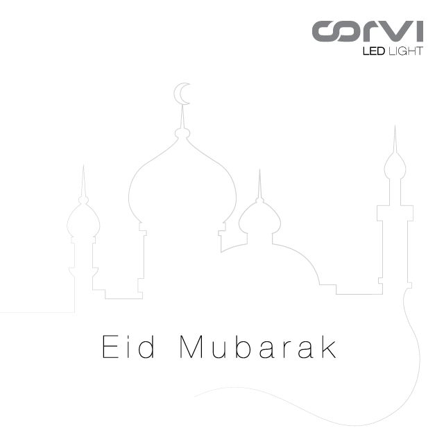 Eid Mubarak from all of us at Corvi! Here's wishing this special day brings peace, happiness and prosperity to all. #CorviLEDLight