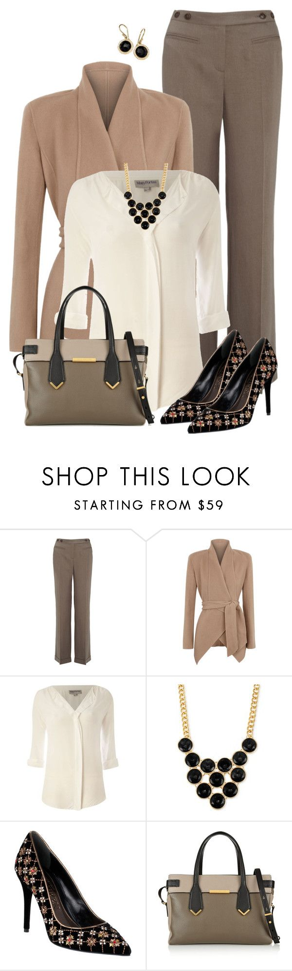 """""""Office Neutrals"""" by kswirsding ❤ liked on Polyvore featuring Monsoon, Donna Karan, Mary Portas, Kenneth Cole, Alexander McQueen, Marc by Marc Jacobs and Ippolita"""