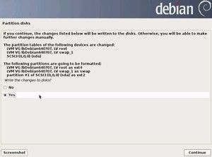 18. Partition Disks - Write changes to disks