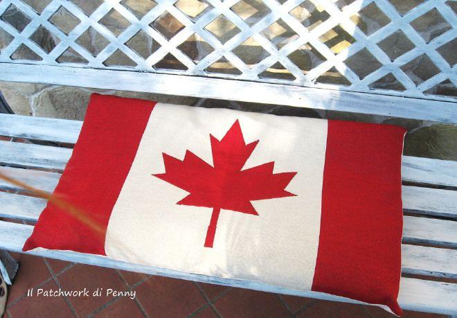 Guanciale Bandiera canadese
