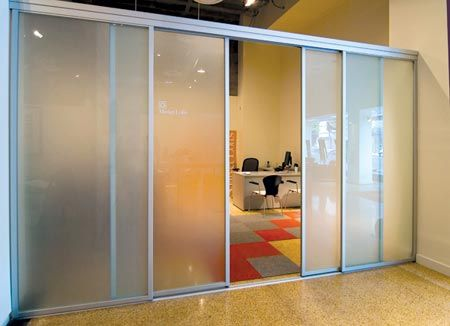 room dividers | office space / loft room divider | sliding door