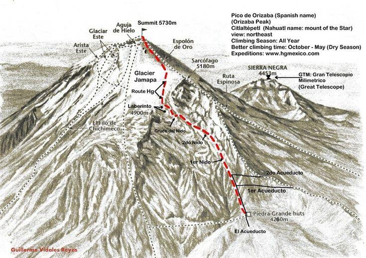 pico de orizaba climb | Pico de Orizaba Photo: 'Pico de Orizaba Climbing route 2012' by ...