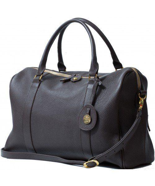 PacaPod Firenze - chocolate leather diaper bag