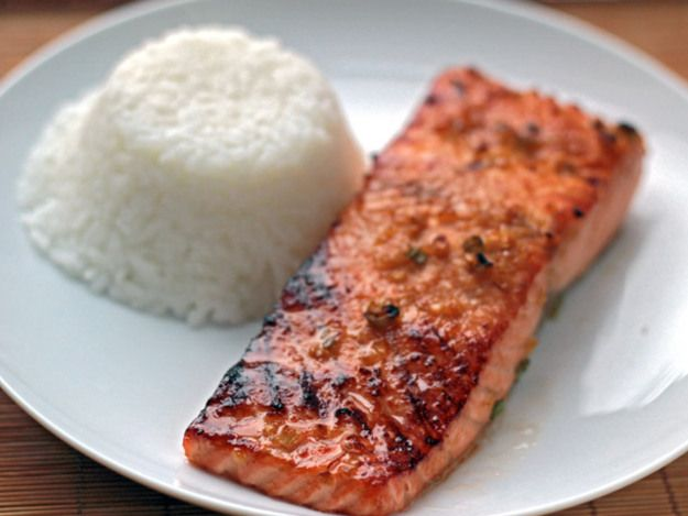 This easy salmon recipe is adapted from Bobby Flay.