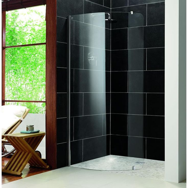 Impey Aqua Screen Pure - 5mm Thick Curved Wet Room Shower Screen
