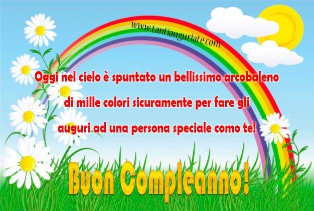 Oggi nel cielo è spuntato un bellissimo arcobaleno di mille colori #compleanno #buon_compleanno #tanti_auguri