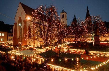 Weihnachtsmarkt, Freiburg. Mercado de Navidad de Freiburg