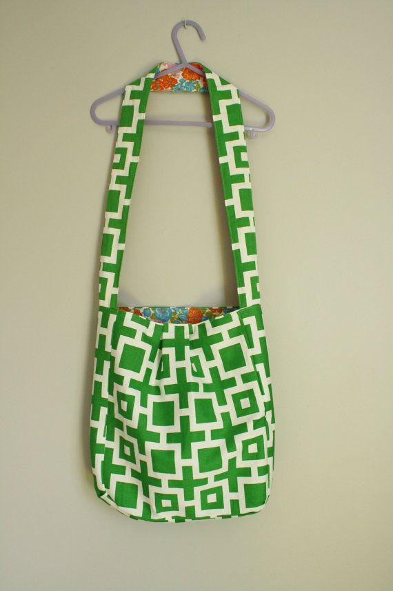 This bag has been designed to wear over the shoulder or across your body. Its the perfect size for running errands, for use as a library