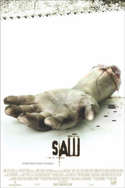 "2005's Marathon: SAW (2004) - With a dead body laying between them, two men wake up in the secure lair of a serial killer who's been nicknamed ""Jigsaw"". The men must follow various rules and objectives if they wish to survive and win the deadly game set for them."