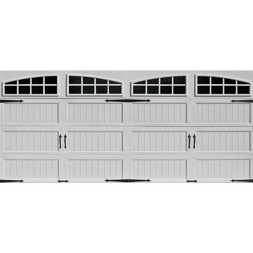 Ideal Door® 4-Star White Arch Lite Long Pnl. Insul. Carriage House EZ-SET® Garage Doors at Menards®