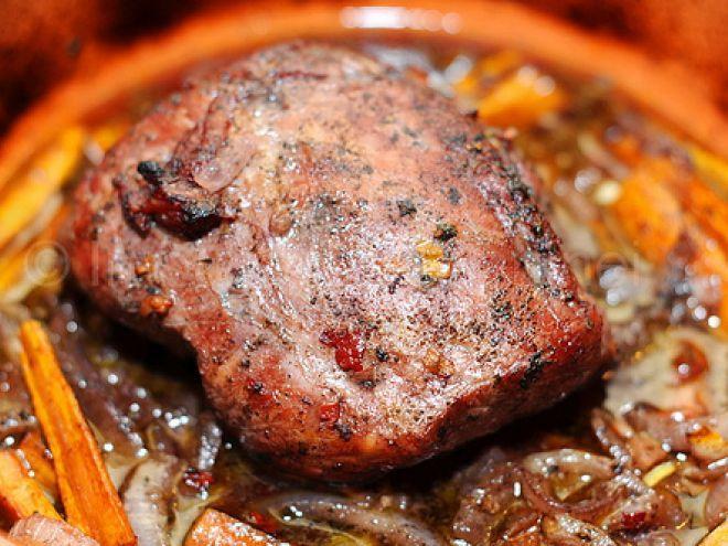 Rețetă Felul principal : Friptura de porc cu sos de vin rosu de Sabina
