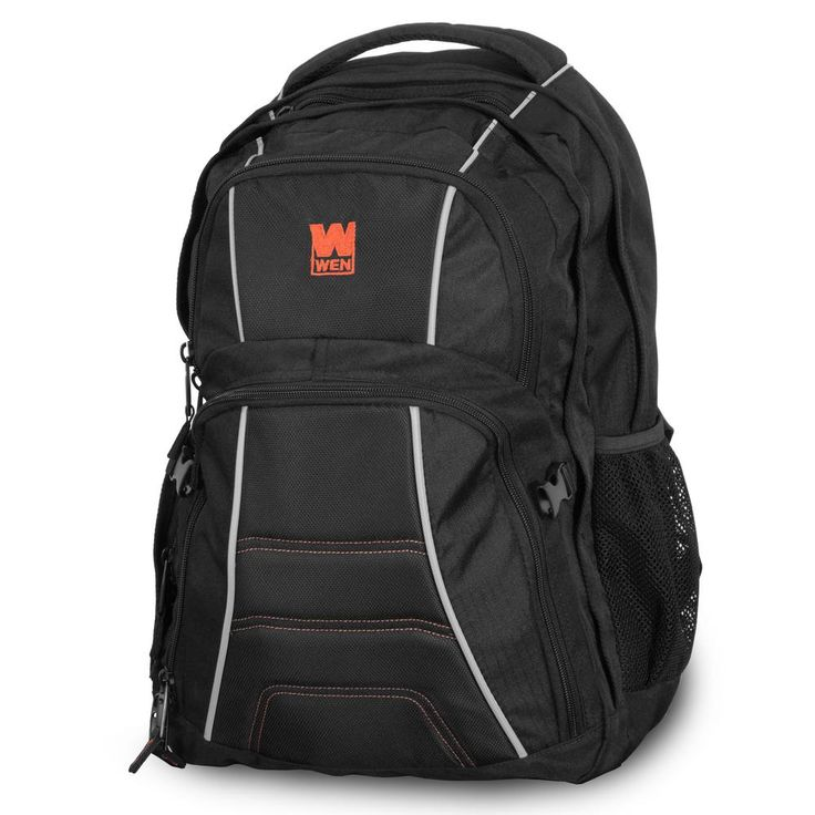 WEN 14 in. 4-Compartment Heavy Duty Backpack with Laptop Storage, Orange