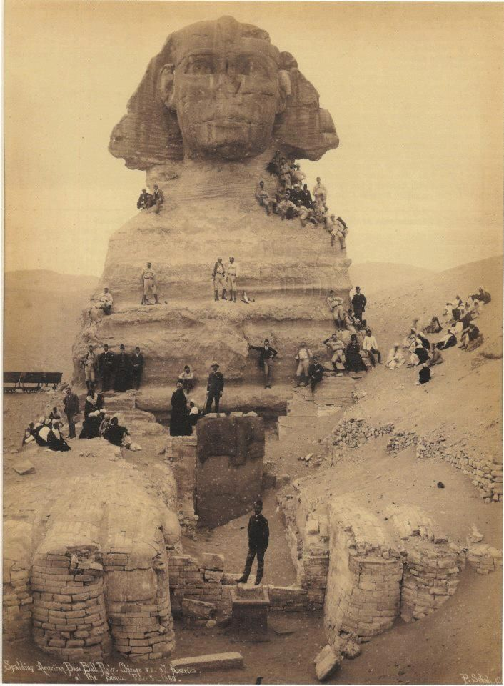 The Sphinx, circa 1850, Giza, Egypt indypendent-thinking:      The Sphinx, circa 1850, Giza, Egypt