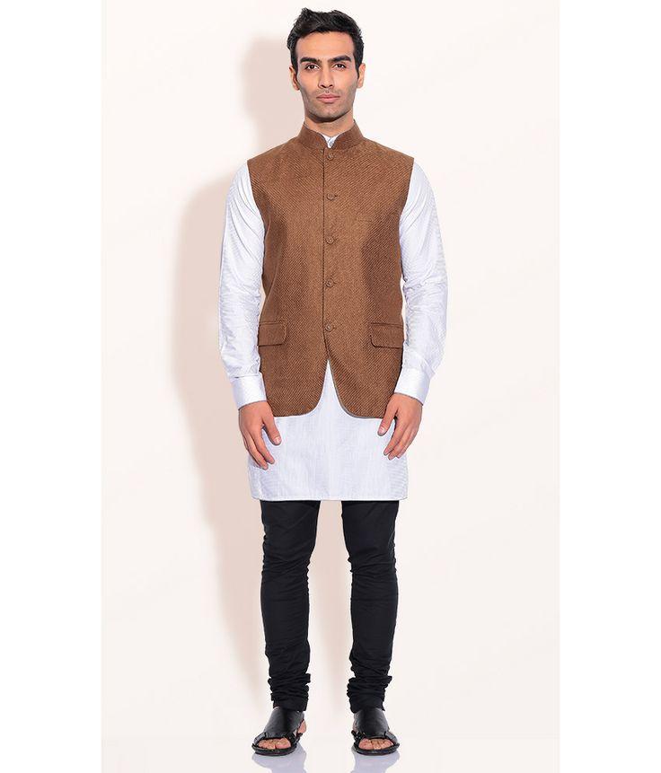 Ashish N Soni Camel Cotton Linen Nehru Jacket, http://www.snapdeal.com/product/designer-wear-camel-cotton-linen/971325614