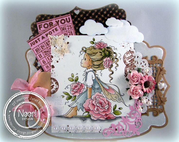 6002/0199 Noor! Design Stans Wolkjes door Janet Blaauw