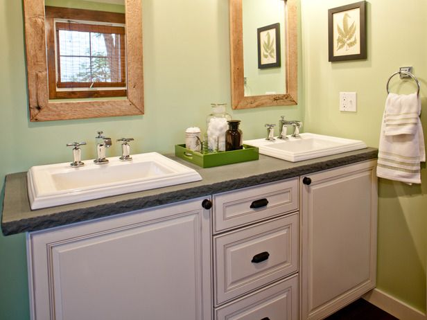 Blog Cabin Bathrooms: Elements of Design: Consider bathroom fixtures the jewelry of your room's design. There's no need to gild the lily with a myriad of artwork and clutter if you've invested wisely in stylish products. From DIYnetwork.com