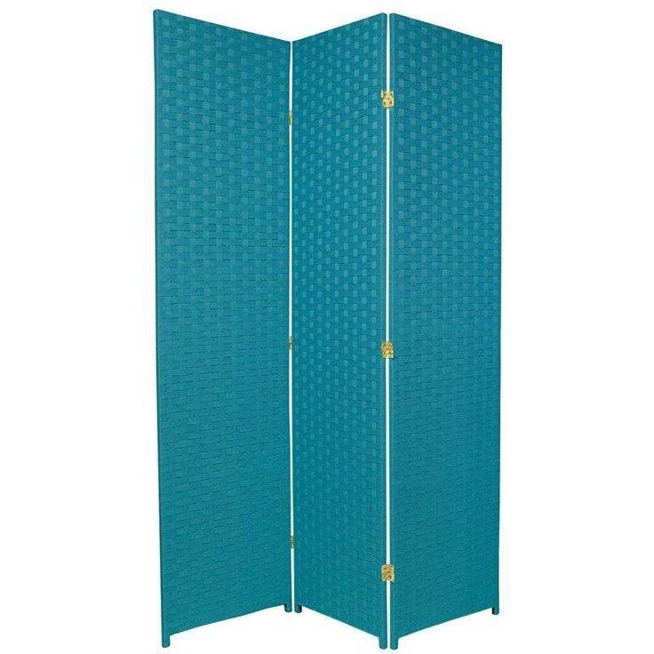 "70.75"" x 52.5"" Special Edition Woven Fiber 3 Panel Room Divider"