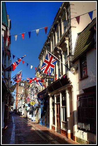 """Flag Street"" Weymouth.  I do miss Pat ""the flag man"" Silverton :("