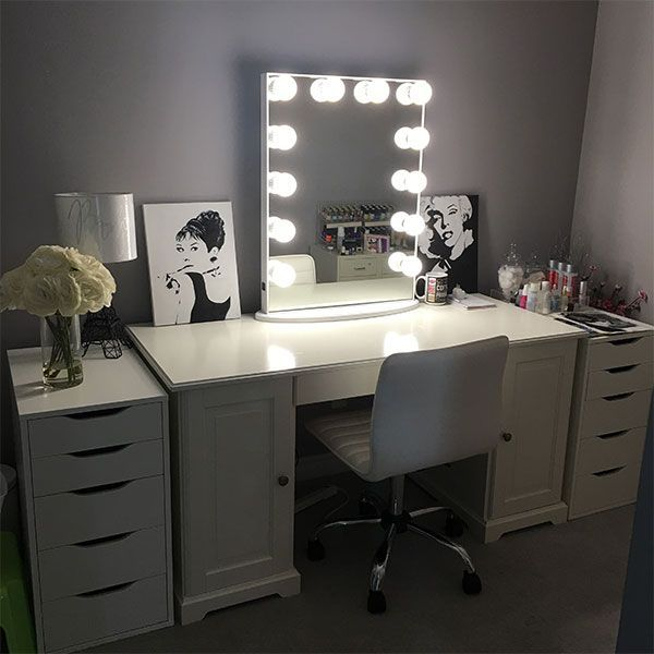 Best 25 hollywood glamour bedroom ideas on pinterest for Bedroom vanity ikea
