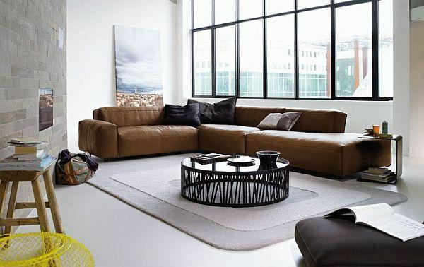 30 Ideen für Eckcouch aus Leder - Sofas mit und ohne Schlaffunktion