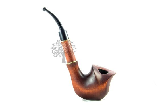 """Smoking Pipe Pipes 7,4"""" FLORIA Tobacco pipes Collection wooden tobacco pipe Woodcraft Wood Pipe"""