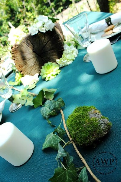 inspiration with turquoise table cloth