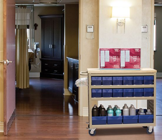 akromils louvered cart allows easy delivery of supplies throughout your hospital or medical facility - Akro Mils