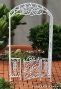 Victorian Garden Arbor with Gate - Miniature Garden Shoppe