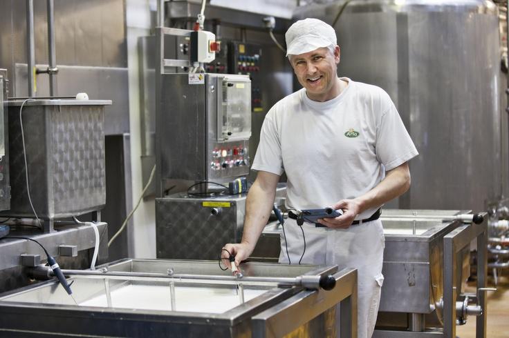 cheese Slagelse dairy in Denmark