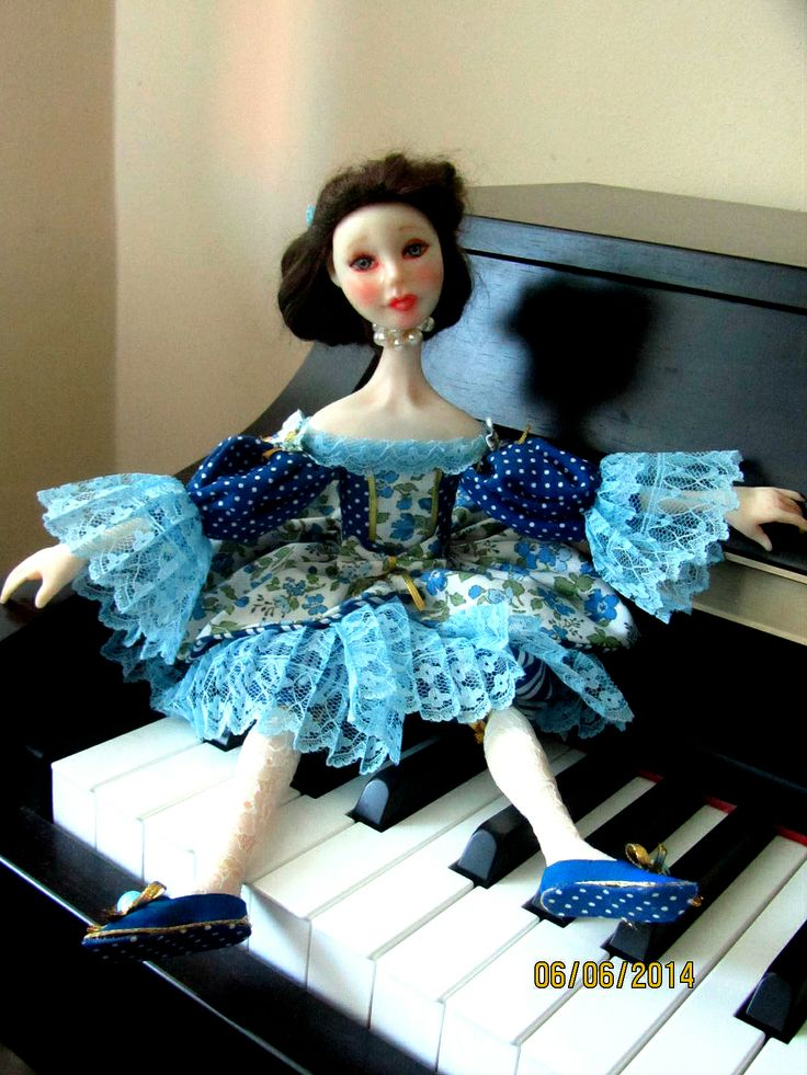 hand made doll by Vafa  Fimo puppen