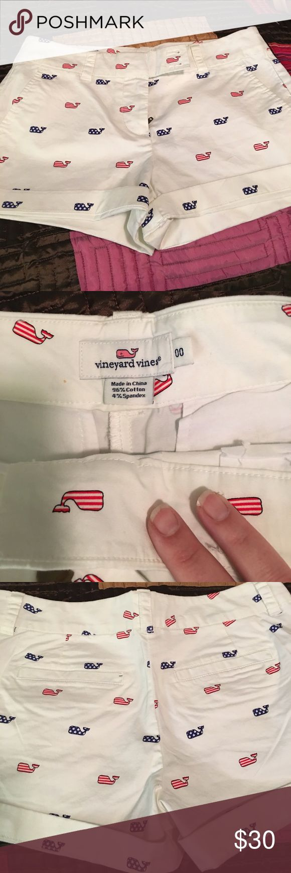 NWOT Vineyard Vines Shorts Darling red, white, and blue Vineyard Vines whale shorts. Perfect for the 4th of July. Please ask questions. No lowball offers or trades. Reasonable offers accepted! Vineyard Vines Shorts