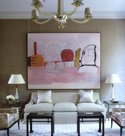 DIYModern Interiors Design, Drawing Room, Architecture Interiors, Hotels Interiors, Colors Schemes, Contemporary Art, London Townhouse, Art Is, Big Art