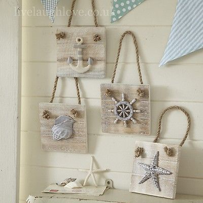 Nautical wall plaques.